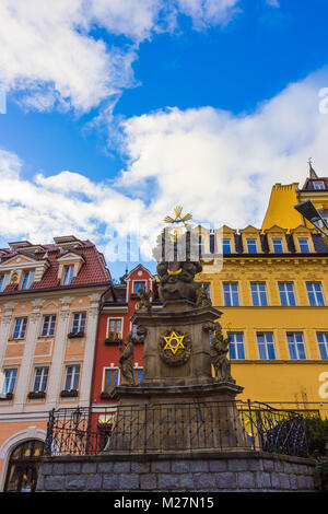 Pillar of the Holy Trinity, Karlovy Vary - Czech Republic - Stock Photo