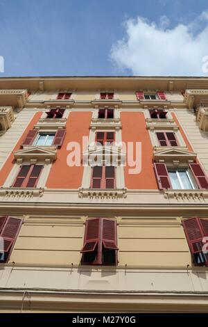 Buildings in Genova, Italy - Stock Photo