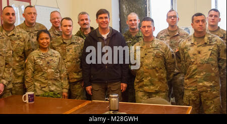 Yavoriv, Ukraine – Mark T. Esper, the United States Secretary of the Army poses for a - Stock Photo