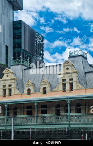 Facelift for Perth CBD Buildings Reveals Amazing Bright Colors in Victorian Architecture buildings. Western Australia - Stock Photo