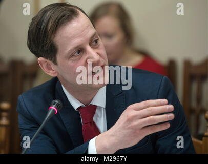 Simferopol, Russia. 06th Feb, 2018. SIMFEROPOL, RUSSIA - FEBRUARY 6, 2018: Roger Beckamp, member of North Rhine - Stock Photo