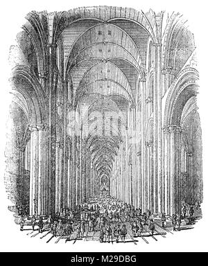Paul's Walk in Elizabethan and early Stuart London was the middle aisle of the fourth St Paul's, generally referred - Stock Photo