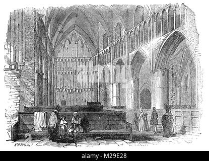 The Choir in St Mary Overies (now refered to as Southwark Cathedral) was the church of an Augustinian priory, Southwark - Stock Photo