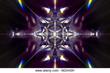Abstract shiny three dimensional geometric star shape - Stock Photo