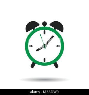 Clock icon - vector metal app button Stock Vector Art