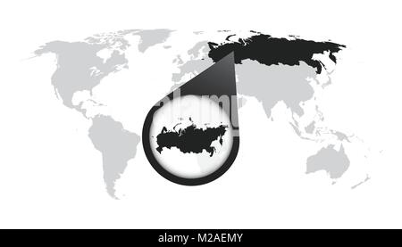 Map of russia icon simple style stock vector art illustration russia icons set simple style world map with zoom on russia russian federation map in loupe vector illustration in gumiabroncs Choice Image