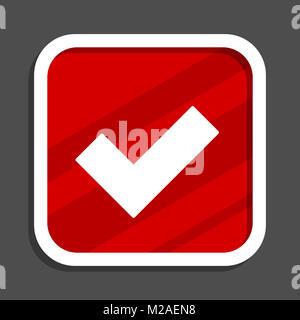 Accept icon. Flat design square internet banner. - Stock Photo