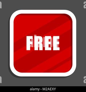 Free icon. Flat design square internet banner. - Stock Photo