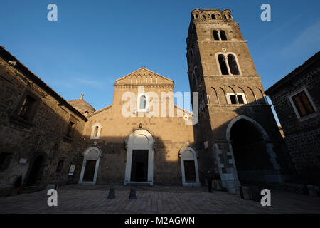Casertavecchia, the cathedral,Province of Caserta, Campania, Italy - Stock Photo