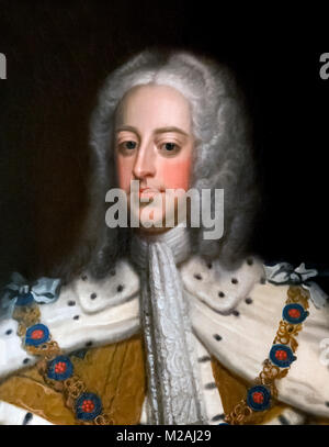 George II. Portrait of King George II of Great Britain by unknown artist, oil on canvas, 1740-50 - Stock Photo