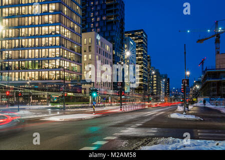 The barcode, a new business district in central Oslo Norway - Stock Photo