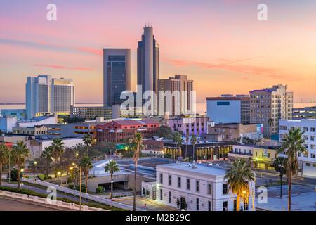 Corpus Christi, Texas, USA Skyline at dusk. - Stock Photo