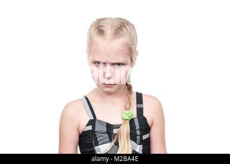 Wicked little girl - Stock Photo