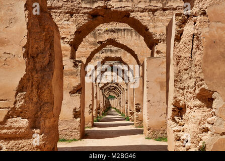 Heri es-Souani, Imperial Royal Stables, Meknes, Morocco, Africa - Stock Photo
