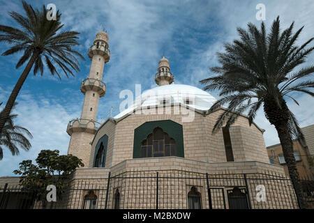 Exterior view of the Mahmood mosque of the Ahmadiyya Muslim Community in Israel located in Kababir, a neighbourhood - Stock Photo