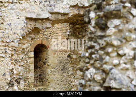 Ruins of Wolvesey Castle (Old Bishop's Palace) founded in XI century by Bishop of Winchester Henry of Blois and - Stock Photo