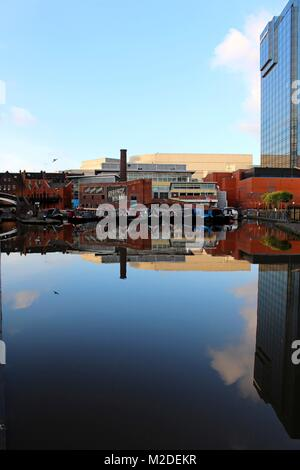 Regency Wharf, a key leisure destination in Birmingham which occupies a prime trading pitch on Broad Street - Stock Photo