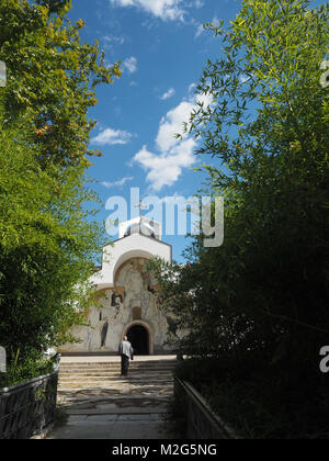 St Petka of Bulgaria, Baba Vanga's (Vangeliya Pandeva Dimitrova and later Vangelia Gushterova) church and grave. - Stock Photo