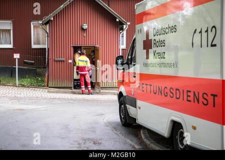 Eine unbekannte Magen-Darm-Erkrankung ist am Freitag (02.05.2014) im Schullandheim des Frankfurter Goethe-Gymnasium - Stock Photo