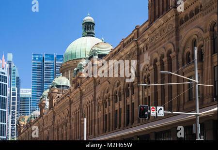 The new light railway system in progress, George Street, Sydney. - Stock Photo