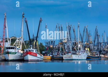 Commercial shrimp boats docked on San Carlos Island, Ft Myers, Florida, USA - Stock Photo