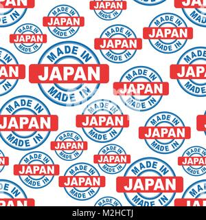 Made in Japan seamless pattern background icon. Flat vector illustration. Japan sign symbol pattern. - Stock Photo