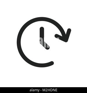 Clock time vector icon. Timer 24 hours sign illustration. - Stock Photo