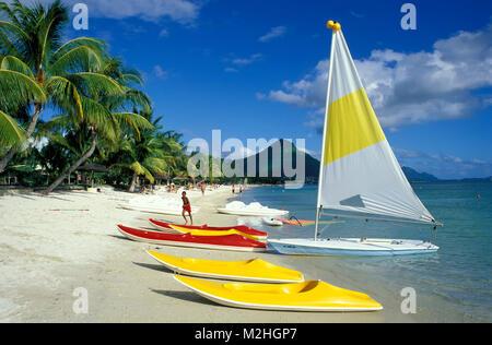 Flic en Flac beach, Mauritius - Stock Photo