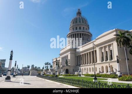 HAVANA, CUBA - JANUARY 16, 2017: Famous National Capitol (Capitolio Nacional) building. The National Capitol Building - Stock Photo
