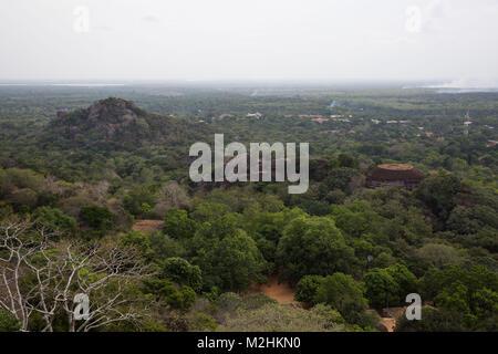 View from Mihintale mountain peak, Sri Lanka. July 2017 - Stock Photo