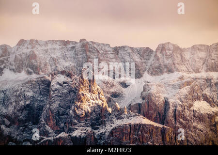 Beautiful view on Sella group, Dolomite Alps, South Tyrol, Italy. - Stock Photo