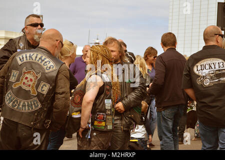 Bikers at Margate - Stock Photo
