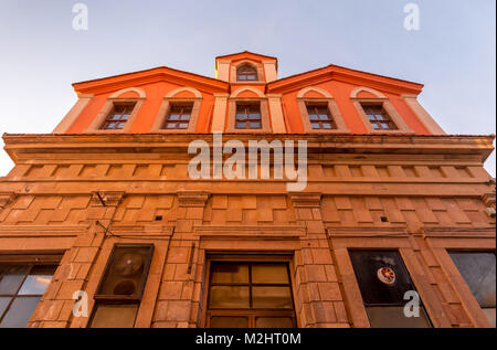 Historical buildings at the center of Ayvalik, Balikesir, Turkey - Stock Photo