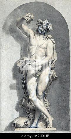 Bacchus, Roman God of Wine - Stock Photo