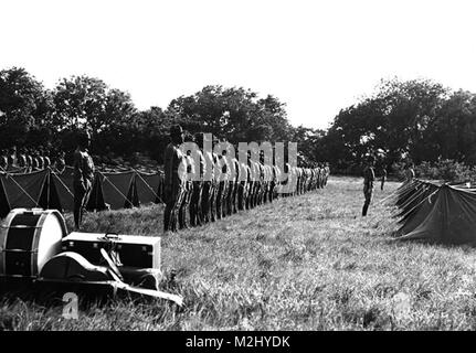 Buffalo Soldiers, 9th Cavalry Regiment, 1941 - Stock Photo