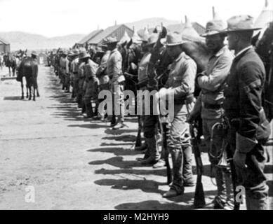 Buffalo Soldiers, 9th Cavalry Regiment, 1900 - Stock Photo
