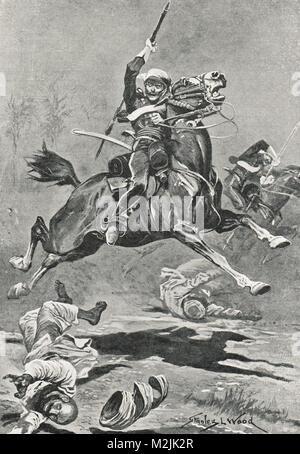 9th lancers at Delhi, India, Indian Rebellion of 1857.  Earning their nickname of the Delhi Spearmen - Stock Photo