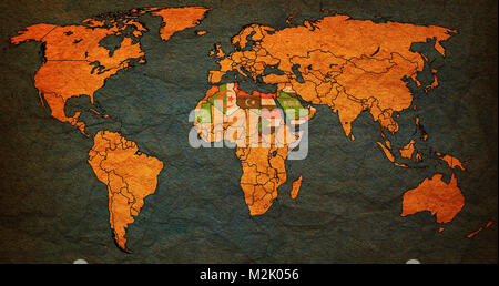 Arab league member countries flags on world map with national arab league member countries flags on world map with national borders stock photo gumiabroncs Choice Image