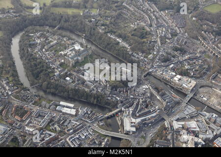 An aerial view of the City of Durham, North East England - Stock Photo