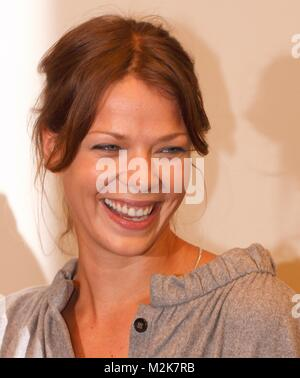 photocall with jessica schwarz the secret of the pharaoh - Stock Photo