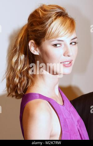 photocall with louise bourgoin the secret of the pharaoh - Stock Photo
