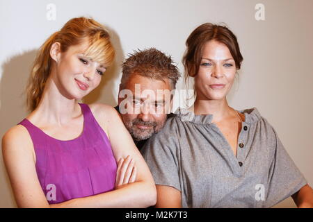 photocall with louise bourgoin,luc besson,jessica schwarz the secret of the pharaoh - Stock Photo