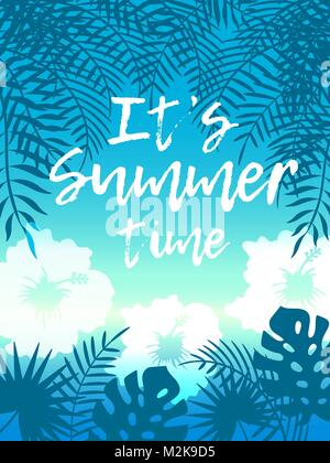 Hello Summer Beach Party Flyer. Vector Design EPS 10 - Stock Photo