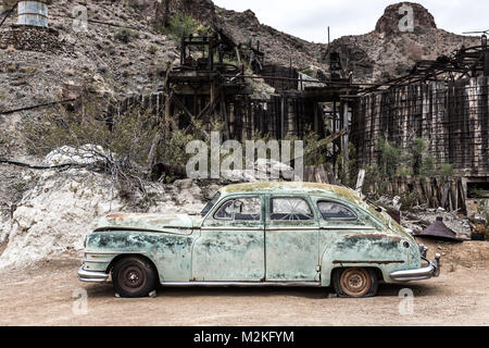 NELSON , USA - JUNE 10 : Old rusty car in Nelson Nevada ghost town on June 10 ,2015 - Stock Photo