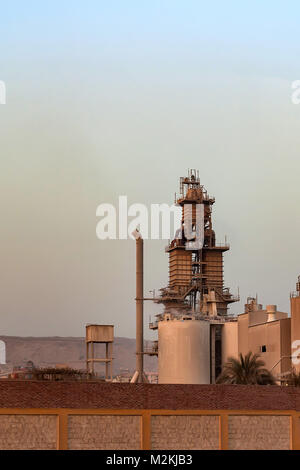 Cancrete batching plant from distance - Stock Photo