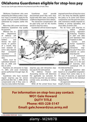 Community Newspaper December 2009 Frontline Page 6 by Oklahoma National Guard - Stock Photo
