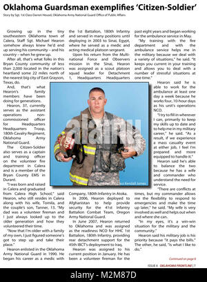 Community Newspaper December 2009 Frontline Page 7 by Oklahoma National Guard - Stock Photo