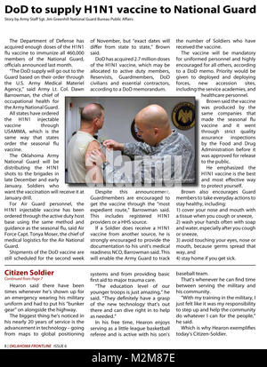 Community Newspaper December 2009 Frontline Page 8 by Oklahoma National Guard - Stock Photo