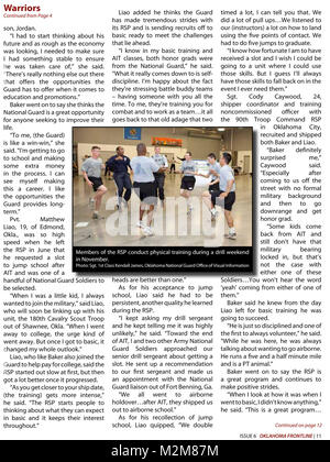Community Newspaper December 2009 Frontline Page 11 by Oklahoma National Guard - Stock Photo