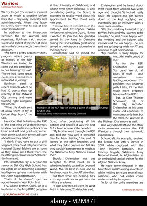 Community Newspaper December 2009 Frontline Page 12 by Oklahoma National Guard - Stock Photo